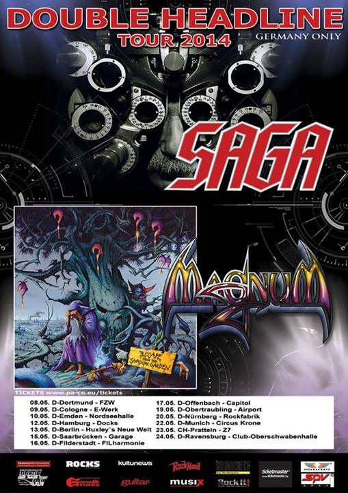 DOUBLE HEADLINE GERMAN TOUR MAGNUM AND SAGA